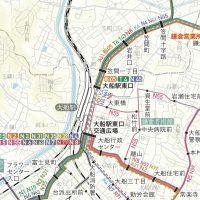 バス路線図デザイン(江ノ電バス 路線図)